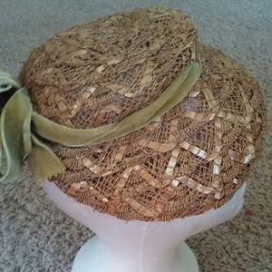 Vintage Velvet Basket Hat